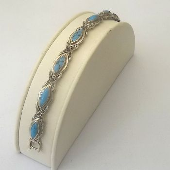Indian Bracelet with with Navette/Marquise Turquoise